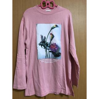 ジーユー(GU)のGU ピンク長袖Tシャツ S(Tシャツ(長袖/七分))