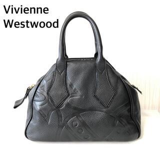 Vivienne Westwood - ヴィヴィアン レザー オーブ 型押し ハンドバッグ ミニボストン ヤスミン 黒
