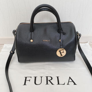 Furla - 【美品】FURLA フルラ アリッサ 黒 2way ショルダー ハンドバッグ