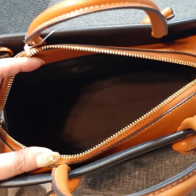 しまむら(シマムラ)のしまむら マルテ配色2way ハンドバッグ ショルダーバッグ レディースのバッグ(ハンドバッグ)の商品写真