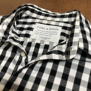 DOORS / URBAN RESEARCH - FORK&SPOON オーガニックコットン ギンガムチェックシャツ