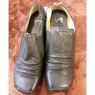 イング(ing)の新品☆ブラック ローファー フラットシューズ(ローファー/革靴)