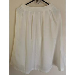 オゾック(OZOC)のOZOC 白スカート(ひざ丈スカート)
