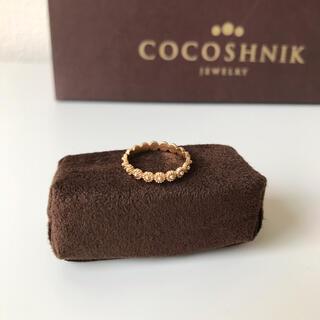 ココシュニック(COCOSHNIK)のココシュニック K10 ラウンドフラワーモチーフ ピンキーリング 5号(リング(指輪))