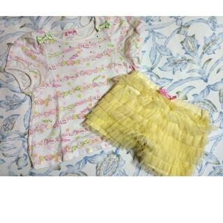 メゾピアノ(mezzo piano)のメゾピアノ Tシャツ&短パン(Tシャツ/カットソー)