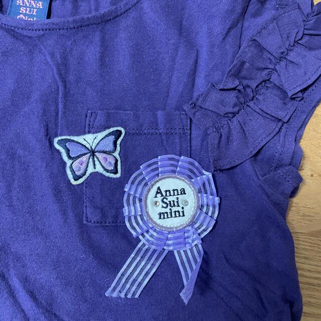 ANNA SUI mini(アナスイミニ)のANNA SUI MINI☆フリルTシャツ キッズ/ベビー/マタニティのキッズ服女の子用(90cm~)(Tシャツ/カットソー)の商品写真