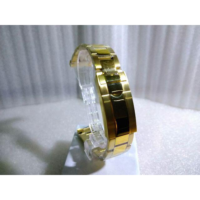 新品 腕時計 ステンレスベルト ロレックス対応 ゴールド 社外品 メンズの時計(金属ベルト)の商品写真