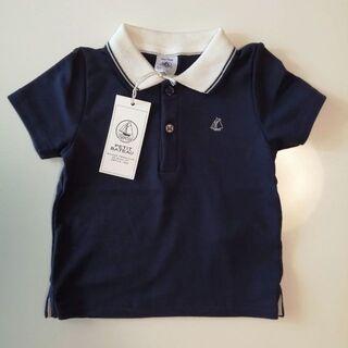 PETIT BATEAU - 新品プチバトー ベビー 半袖のポロシャツ 12M