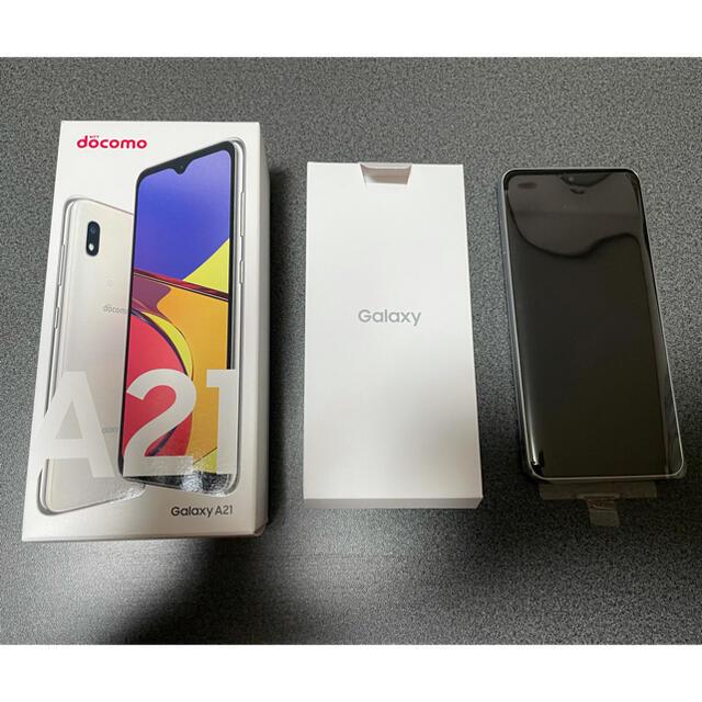Galaxy(ギャラクシー)のGalaxy A21sc42a White スマホ/家電/カメラのスマートフォン/携帯電話(スマートフォン本体)の商品写真