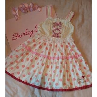 Shirley Temple - 120 ドット ピンク ジャンスカ ワンピース シャーリーテンプル