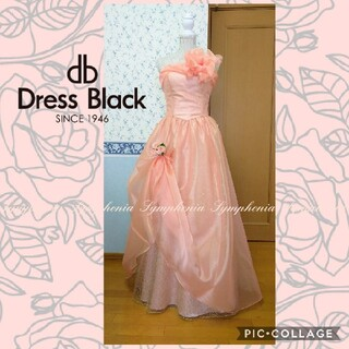 DressBlack リボンアレンジ ロングドレス