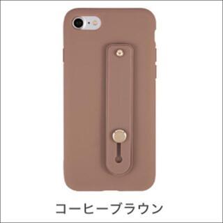 ホールドベルト付きTPUケース iPhone8/7 コーヒーブラウン