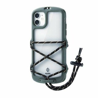 エレコム(ELECOM)のiPhone11用NESTOUT/Fes&Campアウトドアケース オリーブ(iPhoneケース)
