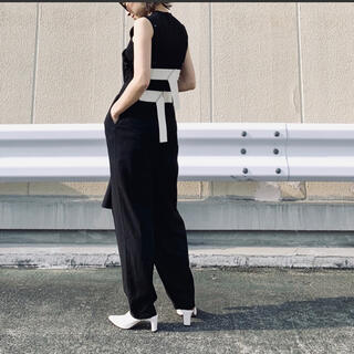 ユナイテッドアローズ(UNITED ARROWS)のleinwande ラインヴァンド tweed belted jumpsuit (オールインワン)