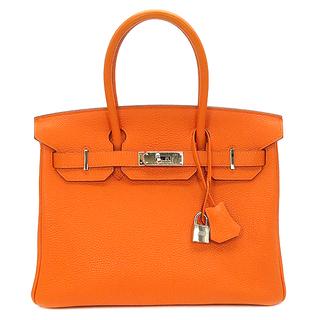 Hermes - エルメス  ハンドバッグ  バーキン30  □K刻印 オレンジ