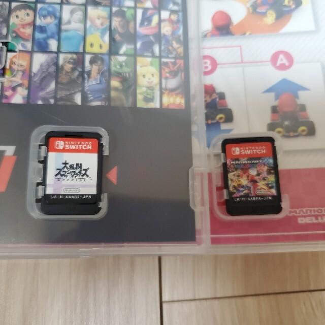 Nintendo Switch(ニンテンドースイッチ)のSwitch スマブラ、マリオカート セット スイッチ用ソフト エンタメ/ホビーのゲームソフト/ゲーム機本体(家庭用ゲームソフト)の商品写真