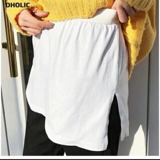 ディーホリック(dholic)のDHOLICスリットレイヤードTシャツ(Tシャツ(半袖/袖なし))