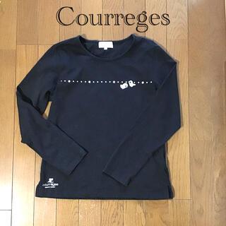クレージュ(Courreges)のcourreges  クレージュ 長袖トップス 黒色 M(カットソー(長袖/七分))