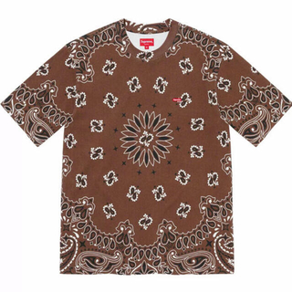supreme Small Box Tee Brown Bandana XL