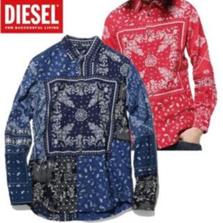 ディーゼル(DIESEL)の極美品 DIESEL ディーゼル ペイズリー シャツ メンズM(シャツ)