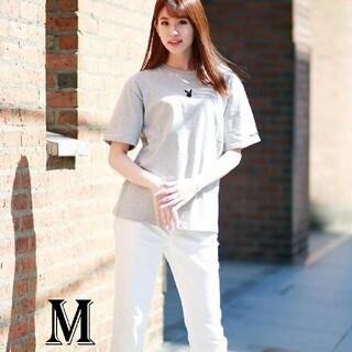 プレイボーイ(PLAYBOY)のPLAYBOY Tシャツ ユニセックス グレー Mサイズ(Tシャツ(半袖/袖なし))