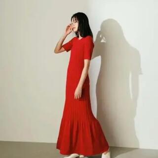 Ameri VINTAGE - 【STYLE MIXER】ニットプリーツワンピース【スタミキ】