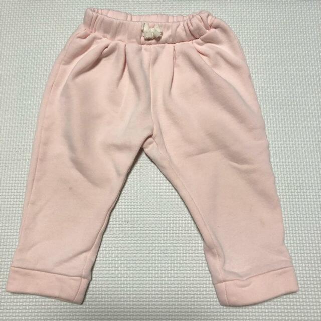 babyGAP(ベビーギャップ)のベビー服 トップス トレーナー  ボトムス パンツ ズボン ピンク 80 キッズ/ベビー/マタニティのベビー服(~85cm)(トレーナー)の商品写真