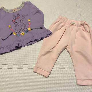 babyGAP - ベビー服 トップス トレーナー  ボトムス パンツ ズボン ピンク 80