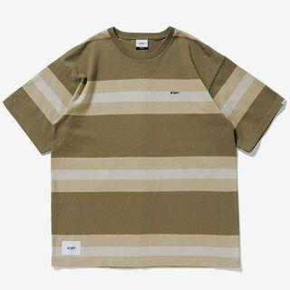 W)taps - wtaps  ボーダー半袖Tシャツ     L