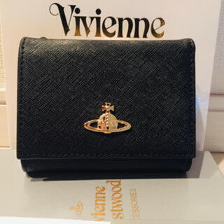 Vivienne Westwood - 新品☆ ヴィヴィアンウエストウッドVivienne 3つ折り財布 ブラック