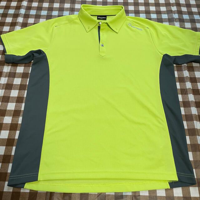 TaylorMade(テーラーメイド)の値下げ テイラーメイド ゴルフウェア ポロシャツ 黄緑 スポーツ/アウトドアのゴルフ(ウエア)の商品写真