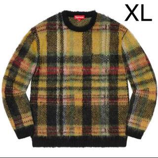 Supreme - 最安値 supreme Brushed Plaid Sweater モヘア