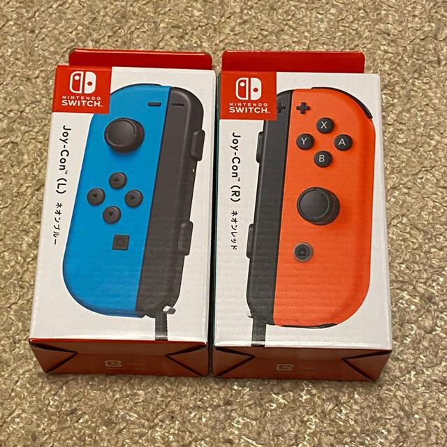 Nintendo Switch(ニンテンドースイッチ)の新品未使用 Nintendo Switch Joy-Con ネオンレッド+ブルー エンタメ/ホビーのゲームソフト/ゲーム機本体(その他)の商品写真