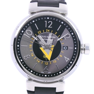 ルイヴィトン(LOUIS VUITTON)のGMTルイ・ヴィトン タンブールGMT   Q1D31  ステンレススチ(腕時計(アナログ))