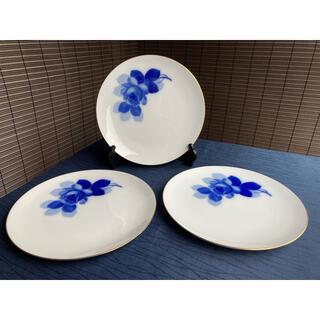オオクラトウエン(大倉陶園)の大倉陶園 ブルーローズ ミート皿 大皿 3点(食器)