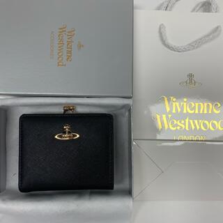 Vivienne Westwood - 新品‼️ ヴィヴィアンウエストウッドVivienneレザー2つ折り財布 ブラック