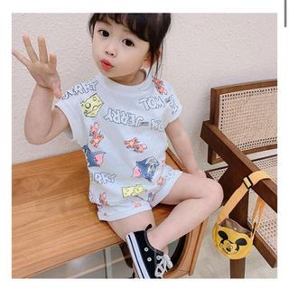 即納 韓国子供服 キッズ ベビー セットアップ トムとジェリー シャツ パンツ