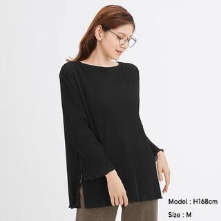 ジーユー(GU)のGU/プリーツチュニックT 長袖 完売商品(Tシャツ(長袖/七分))