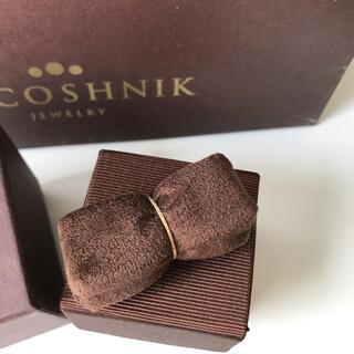 ココシュニック(COCOSHNIK)のココシュニック 10K イエローゴールド カットワーク極光細 リング  12号(リング(指輪))
