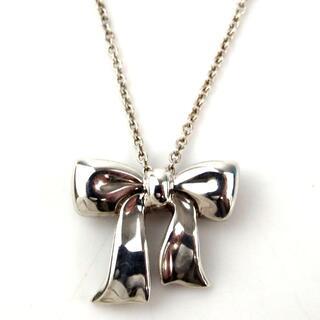 Tiffany & Co. - ティファニー 美品 ブルーボックス リボン ネックレス SV925 17-310