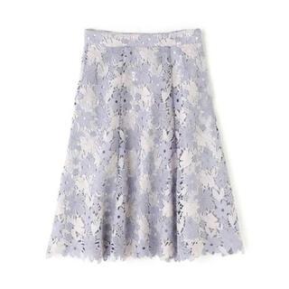 PROPORTION BODY DRESSING - ミックストーンケミカルレースフレアスカート