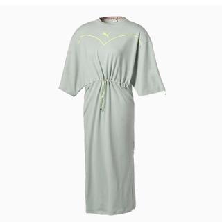 プーマ(PUMA)のプーマ  PUMA NiCORON DRESS ブルーグレー  Lサイズ  新品(ロングワンピース/マキシワンピース)