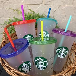 スターバックスコーヒー(Starbucks Coffee)の新作 日本未発売 スターバックス カラーチェンジング リユーザブルカップ(タンブラー)