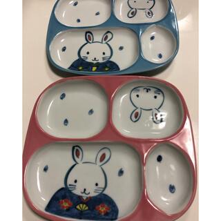 陶器 ランチプレート お子様用 皿(プレート/茶碗)