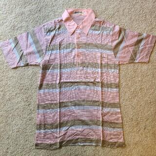 ゴールデンベア(Golden Bear)の【未使用】ジャックニクラウス ポロシャツ ピンクと茶色(ポロシャツ)