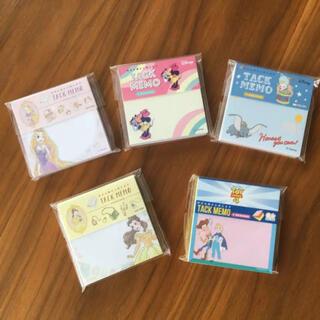 ディズニー(Disney)のディズニー  5点セット  日本製  付箋メモ (ノート/メモ帳/ふせん)
