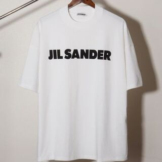 ジルサンダー(Jil Sander)のJIL SANDER ロゴ プリント コットン TシャツS(カットソー(半袖/袖なし))
