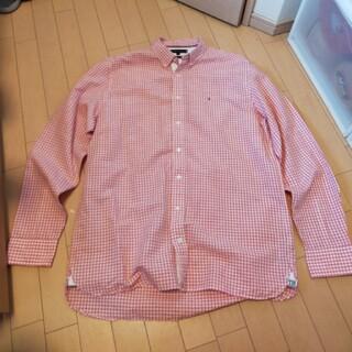 トミーヒルフィガー(TOMMY HILFIGER)のトミーヒルフィガー ピンクチェックシャツ(XL)(シャツ)