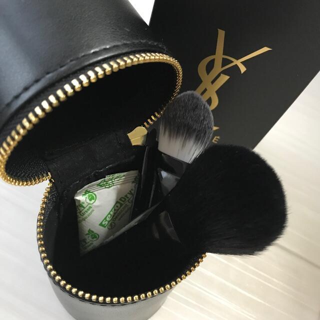 Yves Saint Laurent Beaute(イヴサンローランボーテ)のイヴ・サンローラン ブラシセット ポーチ ノベルティ 非売品 新品 完売 限定 コスメ/美容のメイク道具/ケアグッズ(ブラシ・チップ)の商品写真