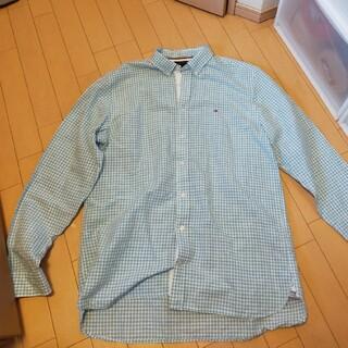 トミーヒルフィガー(TOMMY HILFIGER)のトミーヒルフィガー 水色チェックシャツ(XL)(シャツ)